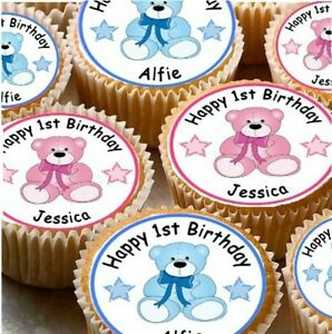Image Is Loading 24 PERSONALISED 1ST BIRTHDAY CUP CAKE FAIRY
