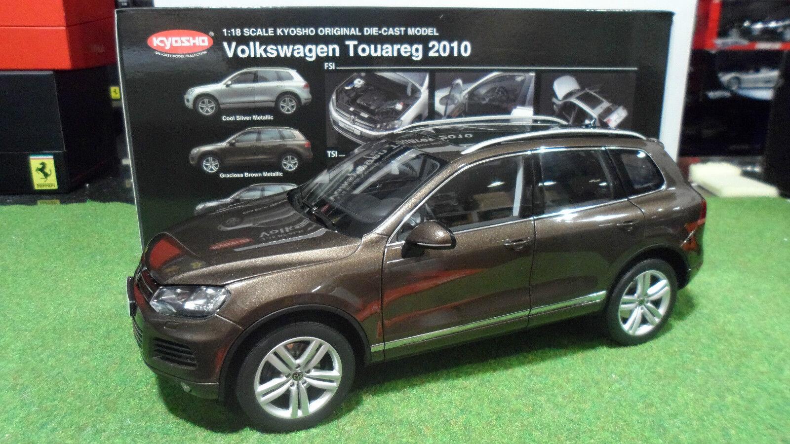VOLKSWAGEN TOUAREG 2010 FSI marron au 1 18  KYOSHO 08821GBR voiture miniature
