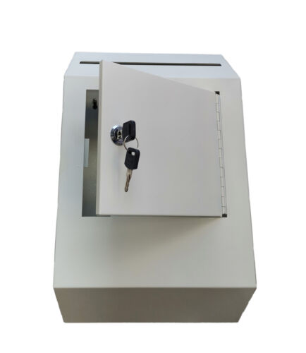 Metal Donation Suggestion Rent Check Box Tithe Prayer Collection Cash Key Drop