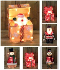 Luce-Up-Movimento-Animato-Babbo-Natale-Pupazzo-di-Neve-Decorazione-Interno-Led