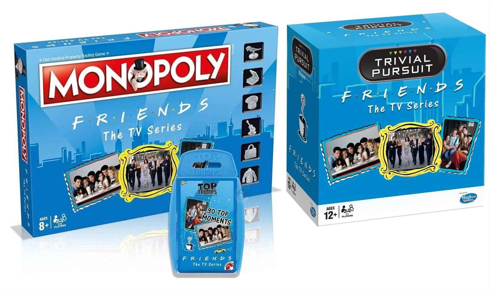 Freunde combo   bundle - monopol, trivial pursuit & top trumps