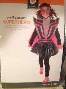 Image is loading Girls-SuperHero-Villain-Halloween-Costume -Accessory-Glitter-Vest-  sc 1 st  eBay & Girls SuperHero Villain Halloween Costume Accessory Glitter Vest ...
