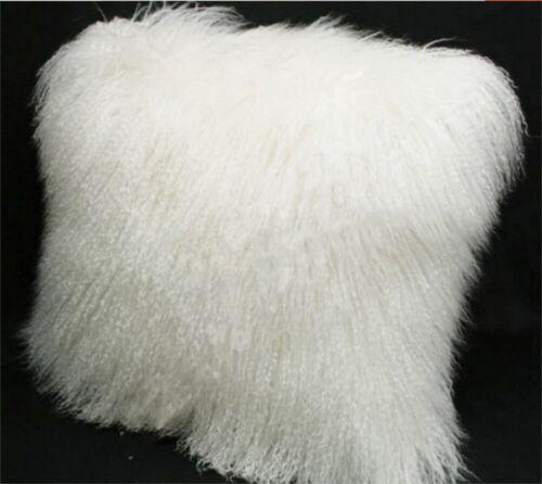 24/'/' Real Mongolian Tibetan Lamb Fur Pillow Cover Tibet Genuine Cushion Wool Fur