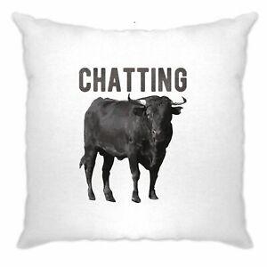Bull-Ox-Cushion-Cover-Chatting-Bullocks-Joke-Funny-Novelty-Cow-Pun
