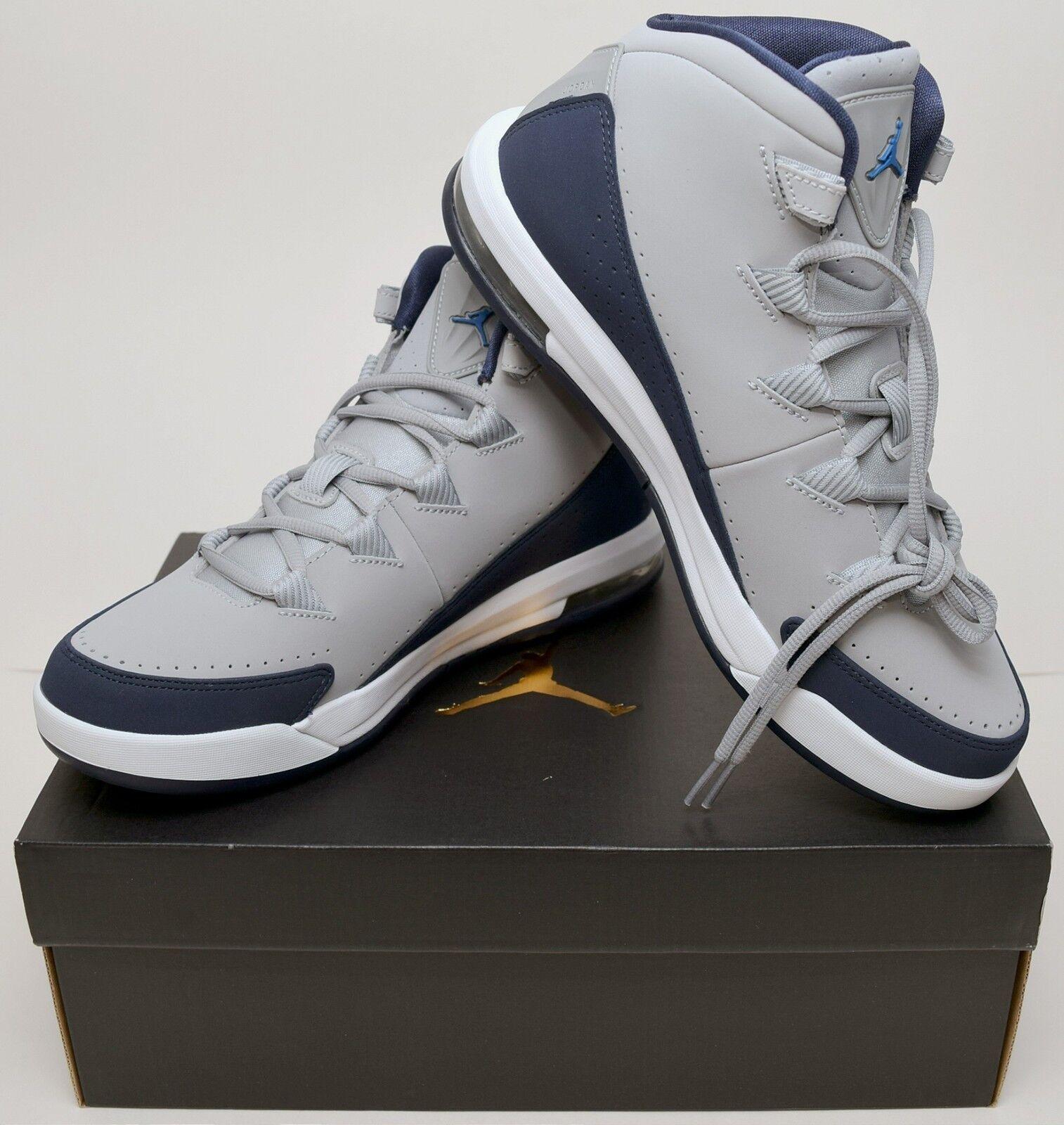 NEW GENUINE Nike Mens Size 8.5 Grey Jordan Air Deluxe Basketball Shoe 807717-006