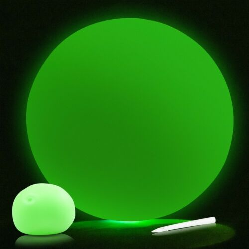23092 SQUISHY BALL INFLATABLE PARTY CELEBRATION TOY GLOW IN THE DARK BALLOON