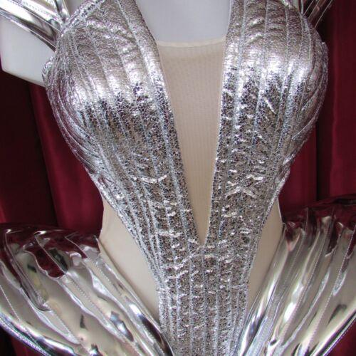 DaNeeNa L040 Beyonce Inspired Futuristic Leather Gaga Costume Corset XS-XL