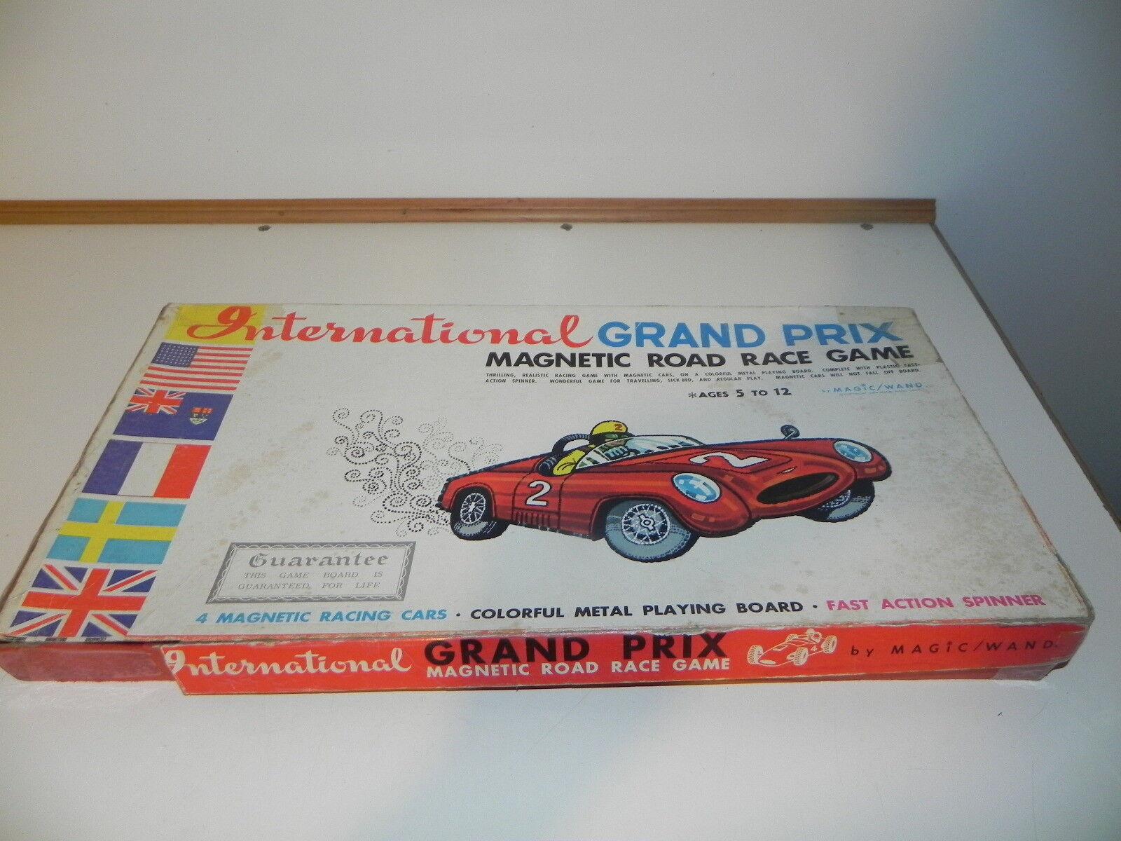 Internationale grand - prix - spiel magnetische road race spiel 1964 magic   zauberstab
