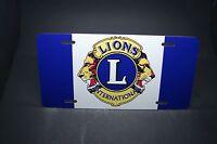 Lions International Club Metal Car License Plate For Cars