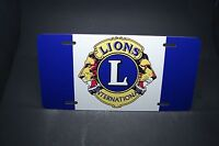 Lions International Club Metal Car License Plate For Cars