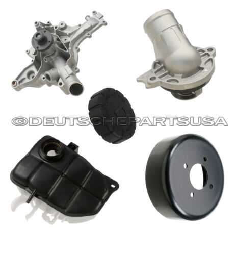 MERCEDES W203 W209 EXPANSION TANK CAP WATER PUMP PULLEY THERMOSTAT ASSEMBLY