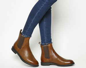 3843d71cfc149 Image is loading Womens-Vagabond-Amina-Chelsea-Boots-Cognac-Leather-Boots