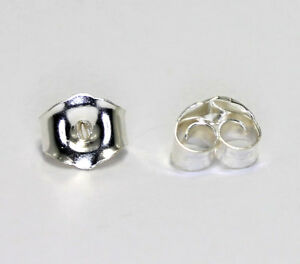 New-sterling-silver-925-earring-friction-backs-clutches-5-10-25-pairs-4MM-X-5MM