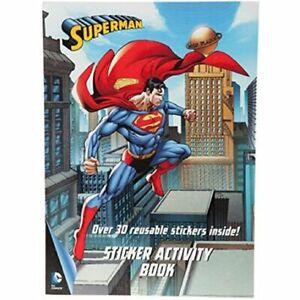 Ufficiale DC Comics Superman Riutilizzabile Adesivo Attività Libro Pacco 301041