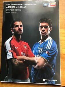18/04/2009 FA Cup Semi-Final: Arsenal v Chelsea | eBay