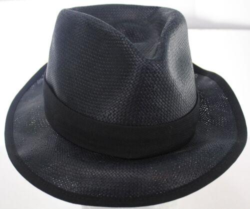 Rag & Bone New York Black Paper Straw Panama Hat F