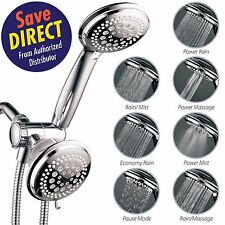 HotelSpa® 36-setting Ultra-Luxury 3-way Shower Head with Handheld Shower Combo