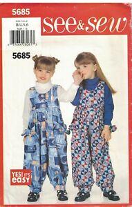 5685-non-Decoupe-Vintage-Butterick-Couture-Motif-Bebe-Filles-Combinaison-Dessous