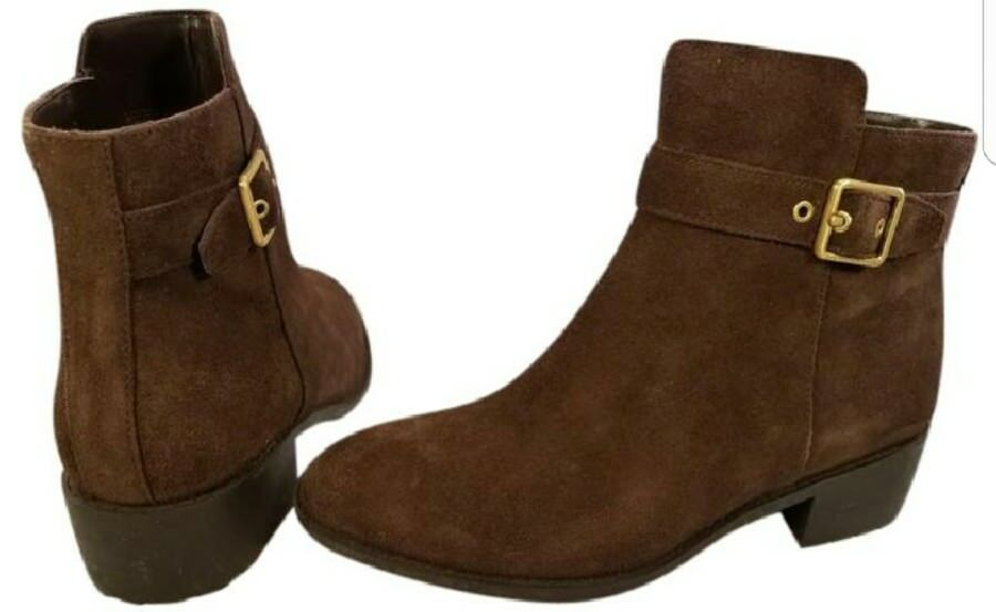 SIZE US 7.5 B Cole Haan grand os waterproof woman boots suede brown ankle mint