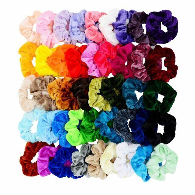 Girl Hair Scrunchies Velvet Elastic Hair Elastic  Hair Ties Multi Packs 36 piese