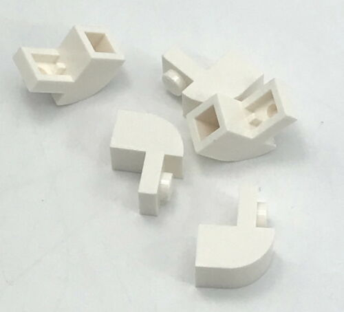 Lego 5 New White Bricks Modified 1 x 2 x 1 1//3 with Curved Top Pieces