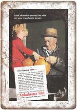 "1945 - Eastman Kodak Kodachrome Film- 10"" x 7"" Retro Look Metal Sign"