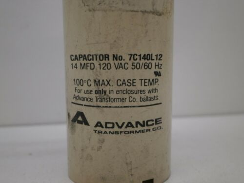 Advance 7C140L12 14uF 14µf 14MFD Capacitor 120VAC 120V 50//60Hz