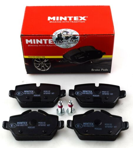 3 MDB2681 MINTEX REAR AXLE BRAKE PADS FOR BMW 1 REAL IMAGE OF PART