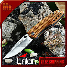 Folding Knife ENLAN M011 · Wooden handle - 8Cr13MoV - Liner Lock