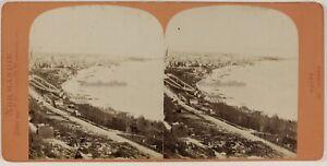 Il-Havre-Normandie-Vista-Generale-Foto-Neurdein-Foto-Stereo-Vintage-Albumina