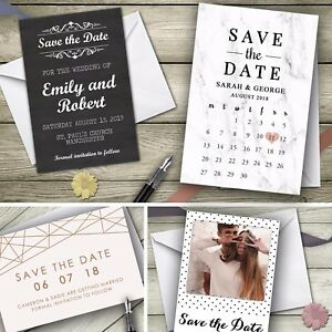 Personalised Save the Date Cards Invitations Party Invites