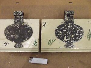 Nr Paar Türscharniere Antik,geschmiedet Eisen,1860 Initiative Scharnier 10 Ochsenauge