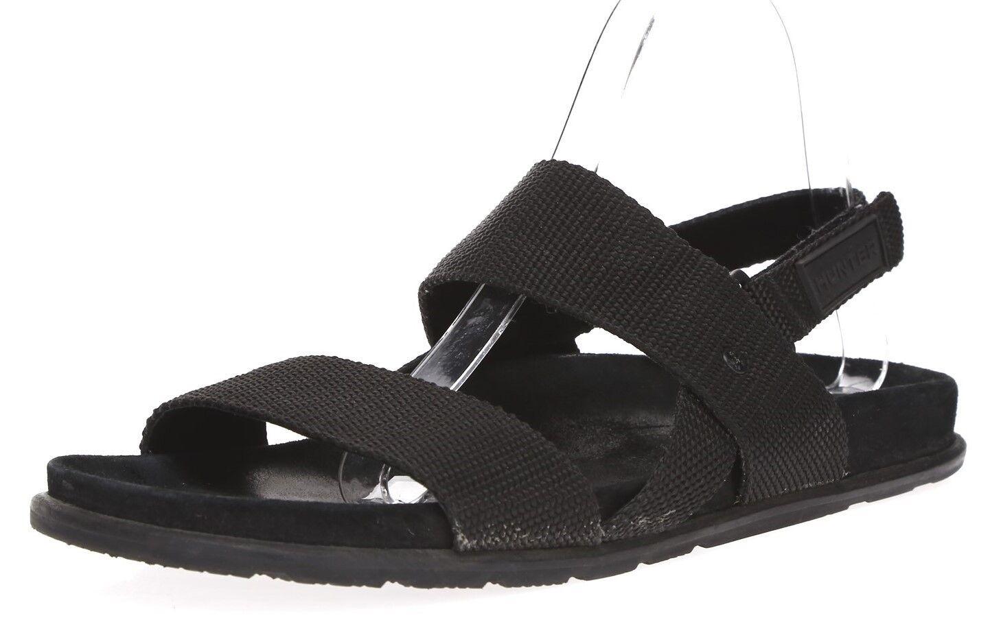 HUNTER Mens Black Double Strap Wedding Sandals Sz Sz Sz 8 M c27904