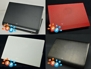KH Laptop Carbon Leather Stiker Skin Cover Protector for