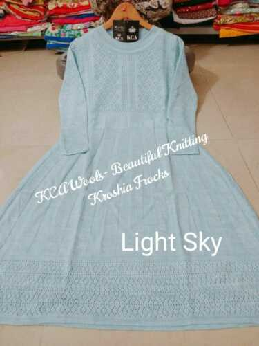 Beautiful pure wool super soft knitting krotia design frocks all size avalible