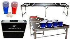Beerpong-Deluxe Beerpongtisch Bierpong Tisch Partyspiel + 44 Becher und 6 Bälle
