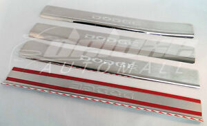 Chrome Stainless Steel Door Step Sill Plates 4 pcs FOR 2009-2017 Dodge Journey