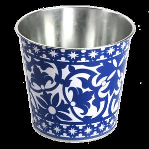 Portugais Esschert Designs Jardin Plante Fleur floral Zinc Bleu Jardiniere Pot Bac