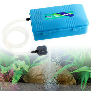 Portable aquarium battery operated fish tank air pump for Battery operated fish