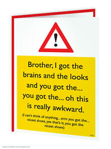 Image Is Loading Brainbox Candy Brother Bro Birthday Greeting Cards Funny