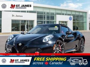 2016 Alfa Romeo 4C One, Owner, SPIDER TRACK PACKAGE, LOW MILEAGE!!!