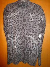 "NWT ANA  XL Cheetah GrayBlkWh Sweater Undrarms24"" Slv28"" Lng30"" Great GIFT IDEA!"