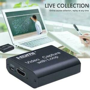 1080p HDMI Video Digtal Capture Card Recorder For Streaming Meeting Game T4R0