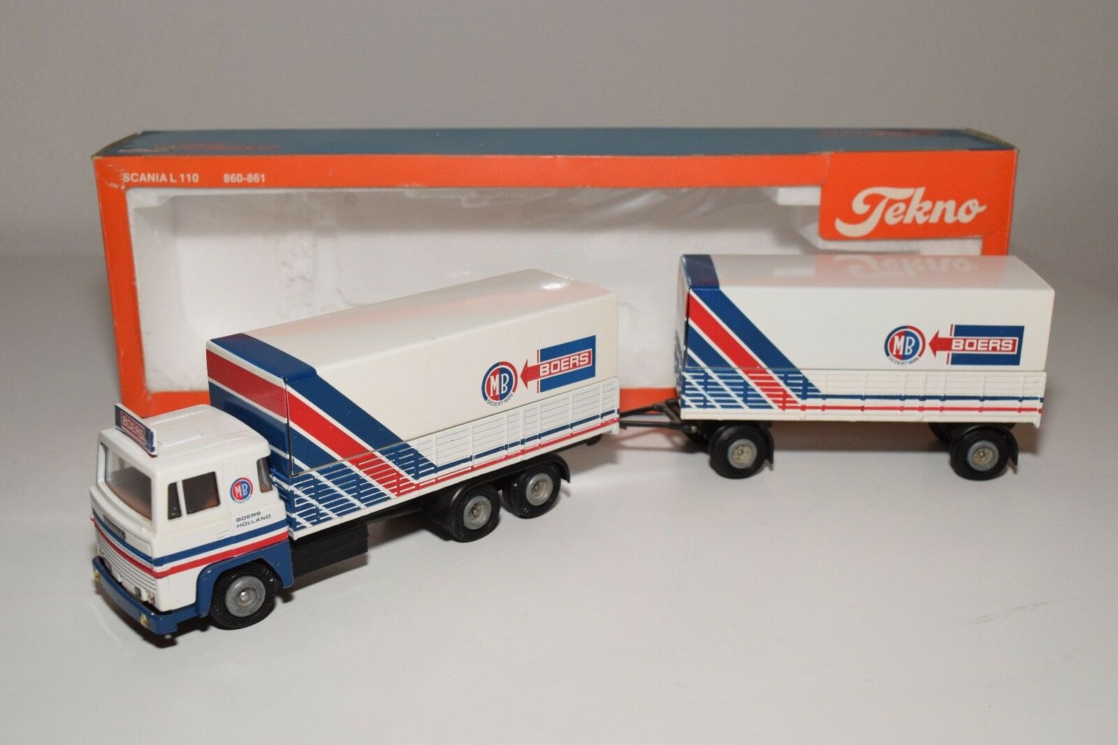 S TEKNO SCANIA 141 M BOERS TRUCK WITH TRAILER MINT BOXED