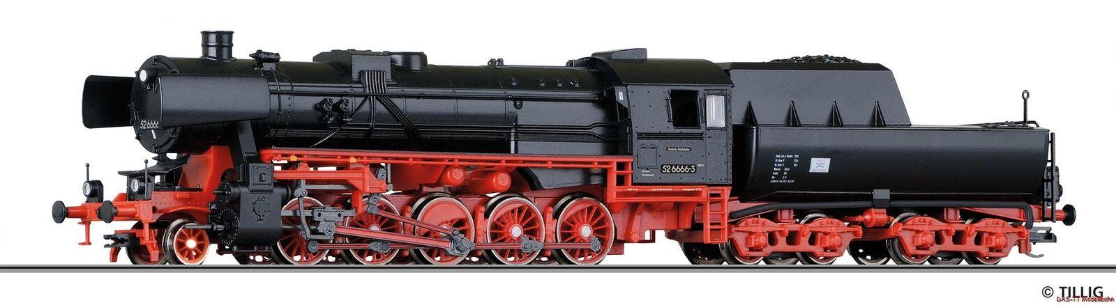 TT Locomotiva br52 6666 Palisadenstrasse DR Ep. IV Tillig 02268 NUOVO