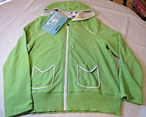 279e2e9190c74 Onque Casuals Juniors Womens M Long Sleeve Zip Up Hoodie Jacket Kiwi ...