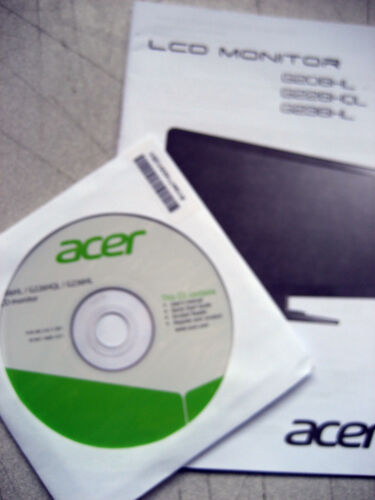 CD drivers for Acer LCD Monitor Acrobat reader User manual Quick Start guide