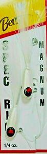 🌟 Betts White & White 1/4 oz Jigs w/Matching Bucktails Spec Rig ( #780-4-1 )
