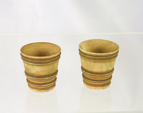 """Dollhouse Miniature 2 Aged 3//4/"""" French Garden Pots A4096"""
