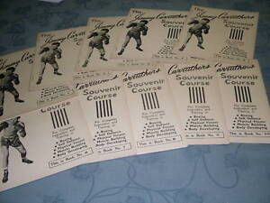 Jimmy-Carruthers-Course-Complete-set-10-Booklet-Australian-Boxing